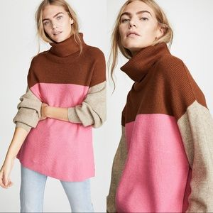 Free people color block sweater